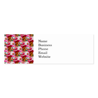 Pretty Floral Swirls Hot Pink Fractal Unique Gifts Mini Business Card