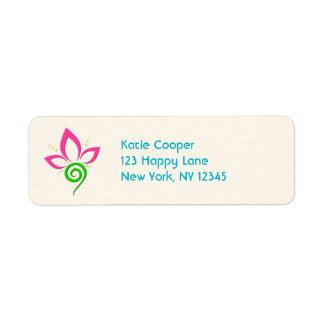 Pretty Floral Symbol Design Label