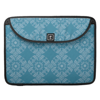 Pretty Floral Teal Pattern Sleeves For MacBook Pro