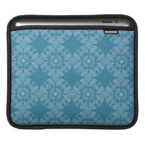 Pretty Floral Teal Pattern Sleeve For iPads