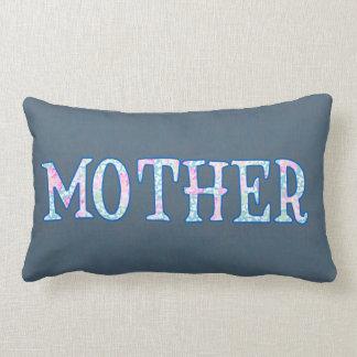 Pretty Floral Text Design Faux Applique Mother Pillow