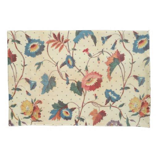 Pretty floral textile design pillow case