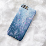 Pretty Floral Textures In Blue Tones Barely There iPhone 6 Case