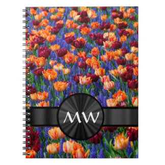 Pretty floral Tulip flowers Spiral Notebook
