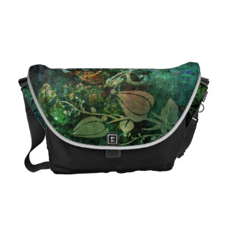 Pretty Floral Vine Abstract Grunge Design Courier Bag