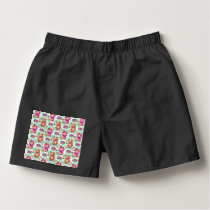 Pretty Floral Wallpaper Pattern Boxers