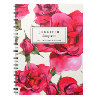PRETTY FLORAL WATERCOLOR | NOTEBOOK