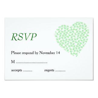 Pretty Floral Wedding Stationery in Green Card