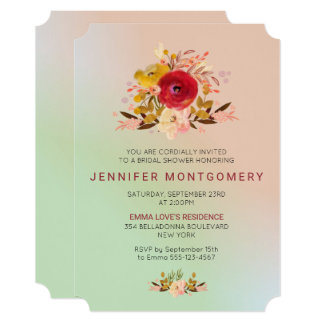 Pretty Floral Wildflowers Bridal Shower Invite
