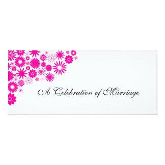 Pretty Florals Magenta Wedding Program