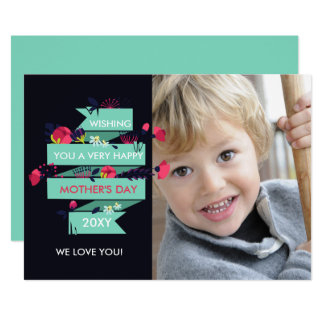 Pretty Florals Mothers Day Photo Card