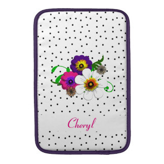 Pretty Flower And Spots Design Sleeve For MacBook Air