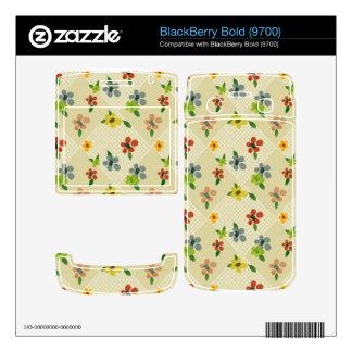 pretty flower argylle pattern phone skin BlackBerry decals