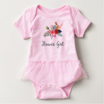 Pretty Flower Bouquet Flower Girl Wedding Baby Bodysuit