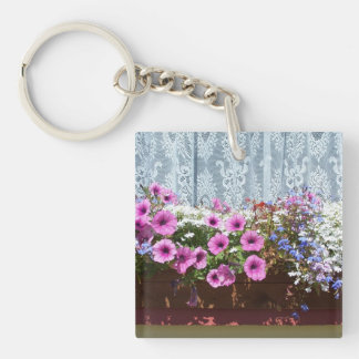 Pretty Flower Box Keychain
