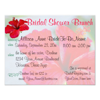 Pretty Flower  Bridal Shower Brunch Card