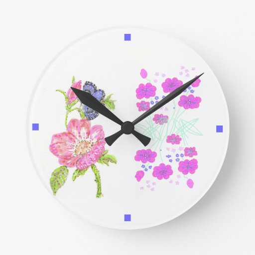 Pretty flower clock