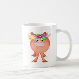 Pretty Flower Cow Vivid Coffee Mug