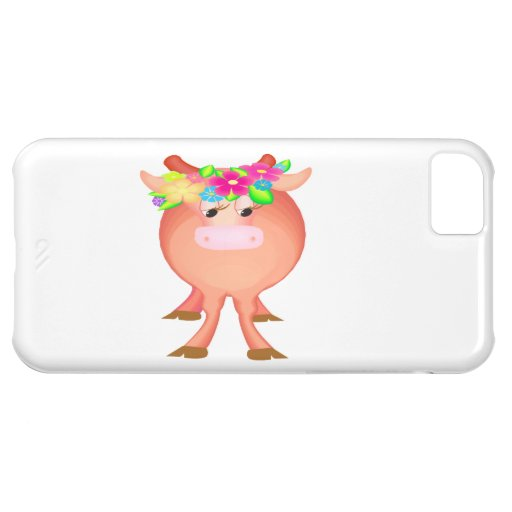 Pretty Flower Cow Vivid iPhone 5C Cases
