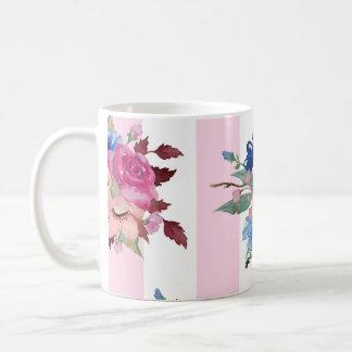 Pretty flower design coffee mug
