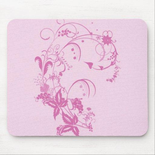 Pretty Flower Design Mousepad