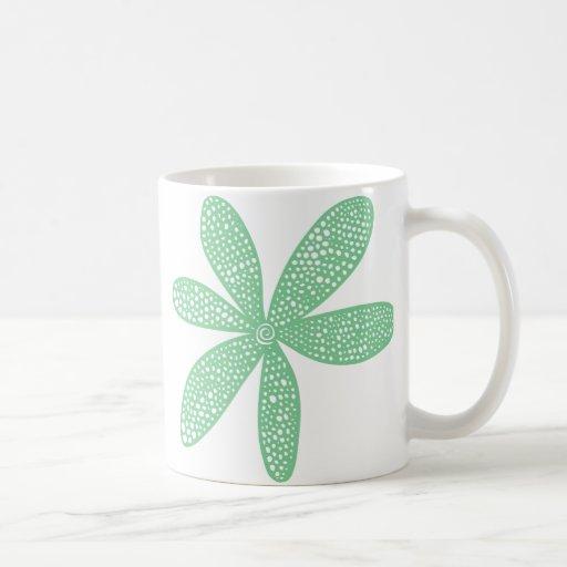 Pretty Flower - Faded Green Classic White Coffee Mug