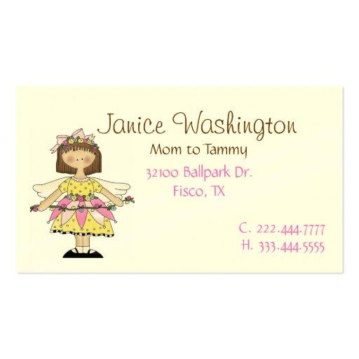 Pretty Flower Fairy Mommy Calling Card Business Card