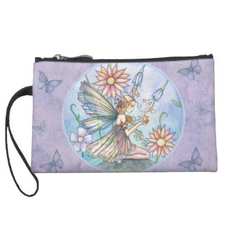Pretty Flower Fairy Satin Clutch Bag
