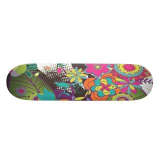 pretty flower funk custom skate board