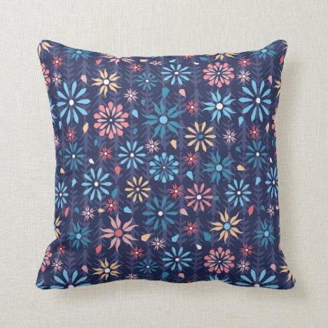 Pretty flower garden throw pillow