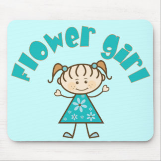 Pretty Flower Girl Mouse Pad