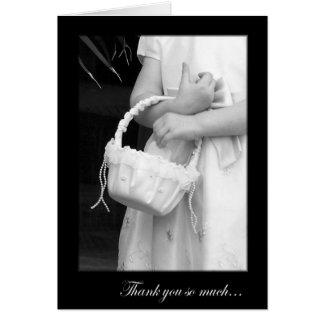 Pretty Flower Girl Thank You Card