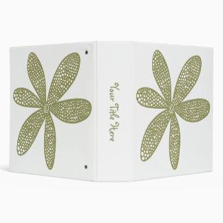 Pretty Flower - Khaki (2.0in) Binder