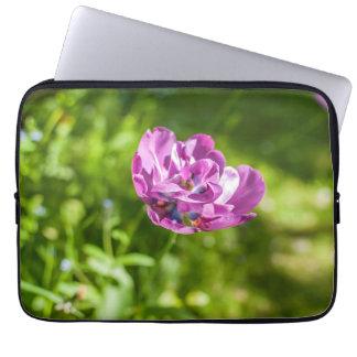 Pretty flower computer sleeve