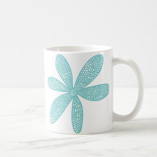 Pretty Flower - Light Blue Green Classic White Coffee Mug