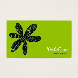 Pretty Flower - Martian Green Business Card