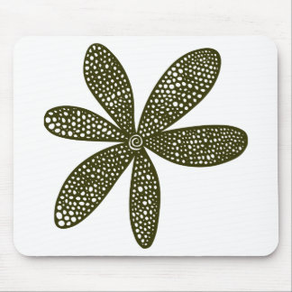 Pretty Flower - Murky Green Mouse Pad