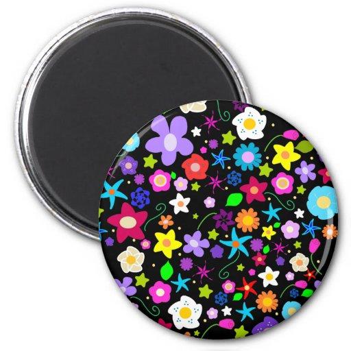 Pretty Flower pattern Fridge Magnets
