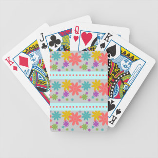 Pretty Flower Pattern Playing Cards