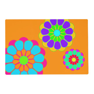 Pretty Flower Power Bloom I II III + your backgr. Placemat
