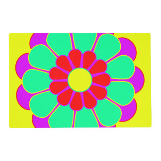 Pretty Flower Power Bloom I + your backgr. Placemat