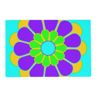 Pretty Flower Power Bloom II + your backgr. Placemat