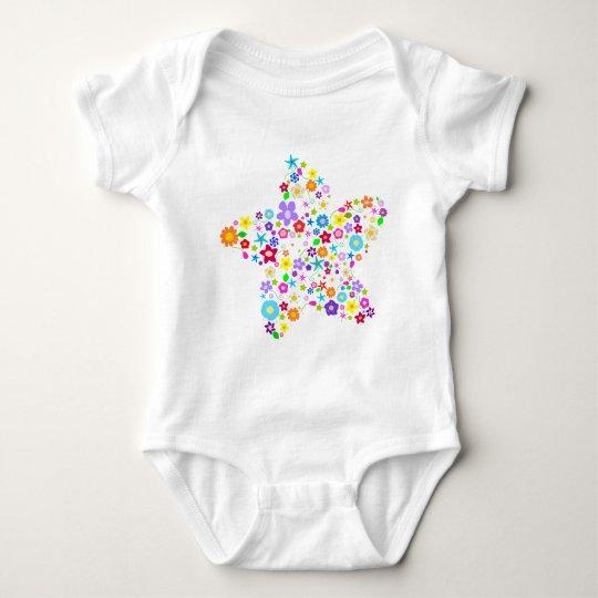 Pretty Flower Star Baby Bodysuit
