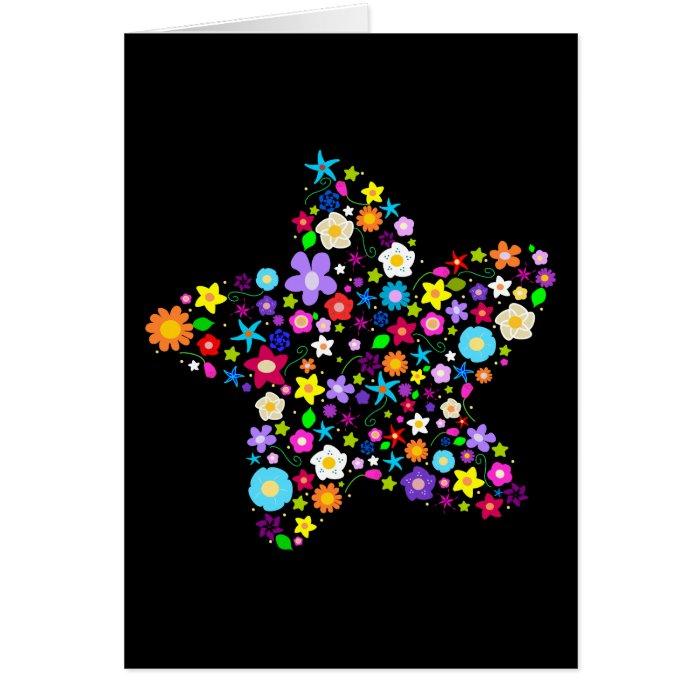 Pretty Flower Star Card