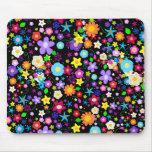 Pretty Flower Star Mousepad