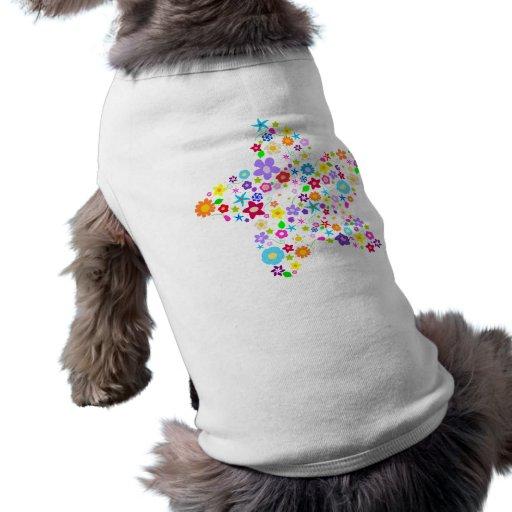 Pretty Flower Star Pet Tshirt