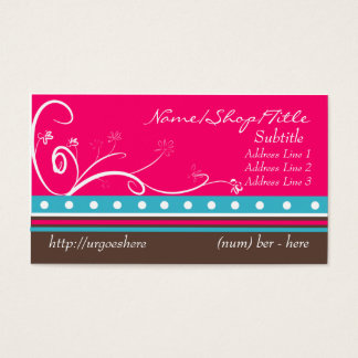 Pretty Flower Swirls Business Card