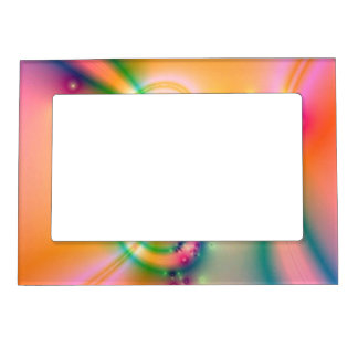 Pretty Flower With Ribbons Magnetic Photo Frame