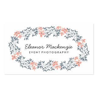 Pretty Flower Wreath | Watercolor Floral Business Card