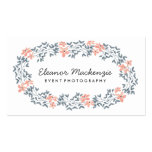 Pretty Flower Wreath | Watercolor Floral Double-Sided Standard Business Cards (Pack Of 100)